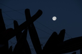 Moon Above the Wire