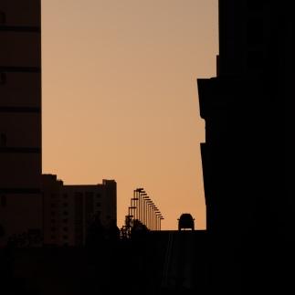 Dawn sky silhouette
